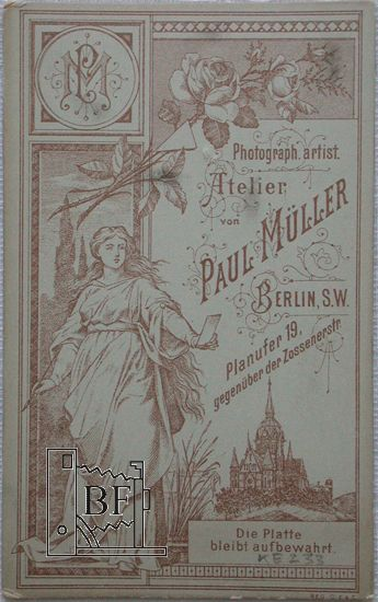 Atelier Paul Müller, 1883, Privatslg